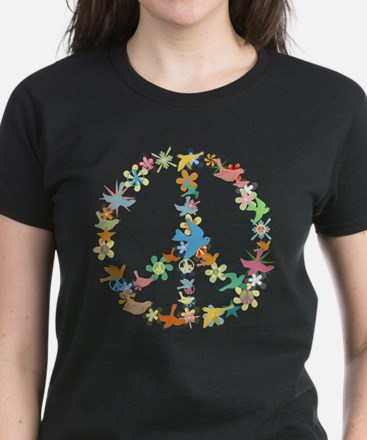 Abstract Art Peace Sign Women's Dark T-Shirt