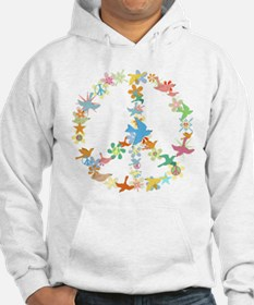 Abstract Art Peace Sign Hoodie