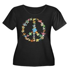 Abstract Art Peace Sign T