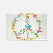 Abstract Art Peace Sign Rectangle Magnet (100 pack