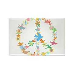 Abstract Art Peace Sign Rectangle Magnet (10 pack)