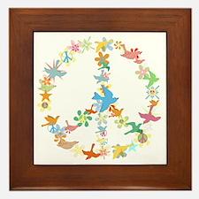 Abstract Art Peace Sign Framed Tile