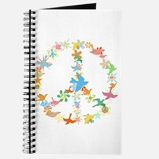Abstract Art Peace Sign Journal