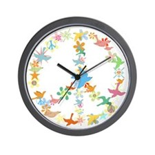 Abstract Art Peace Sign Wall Clock