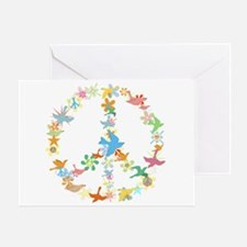 Abstract Art Peace Sign Greeting Card