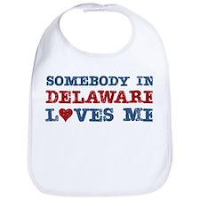 Somebody in Delaware Loves Me Bib