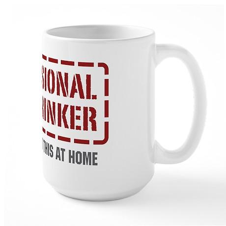 Professional Beer Drinker Large Mug