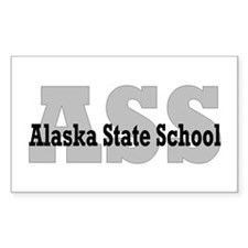 Alaska State School Rectangle Decal
