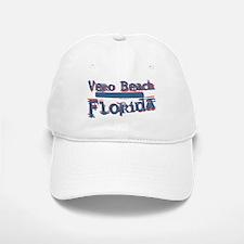 Vero Beach Florida Vintage Art Baseball Baseball Cap