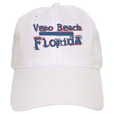 Vero Beach Florida Vintage Art Baseball Cap