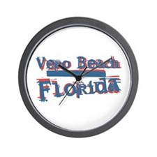 Vero Beach Florida Vintage Art Wall Clock