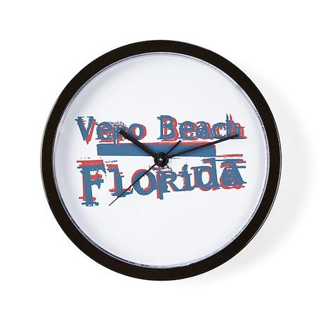 Vero Beach Florida Vintage Art Wall Clock