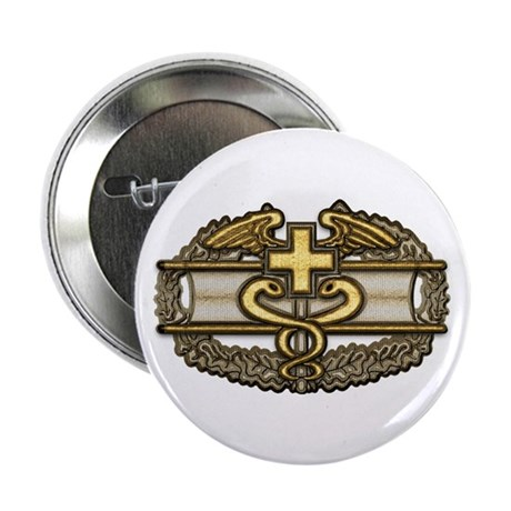 """Combat Medic(gold) 2.25"""" Button (10 pack)"""