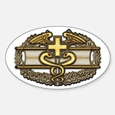 Combat Medic(gold) Oval Decal