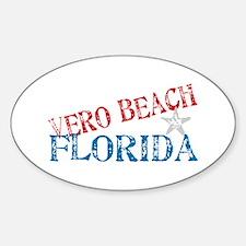 Vero Beach Florida Souvenir Oval Decal