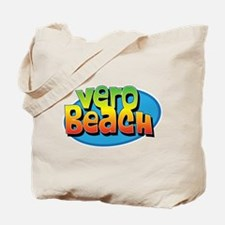 Vero Beach Florida Cartoon Souvenir Tote Bag