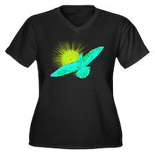 Summer Gull Women's Plus Size V-Neck Dark T-Shirt