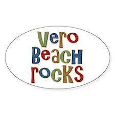 Vero Beach Florida Rocks Oval Decal