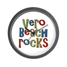 Vero Beach Florida Rocks Wall Clock