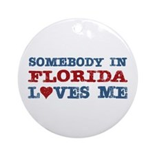 Somebody in Florida Loves Me Ornament (Round)