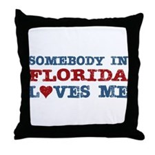 Somebody in Florida Loves Me Throw Pillow