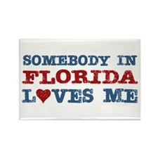 Somebody in Florida Loves Me Rectangle Magnet (10