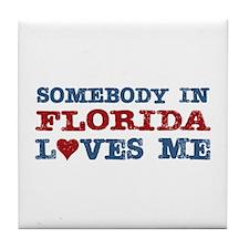 Somebody in Florida Loves Me Tile Coaster