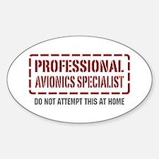 Professional Avionics Specialist Oval Decal
