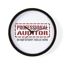 Professional Auditor Wall Clock