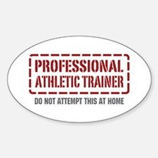 Professional Athletic Trainer Oval Decal