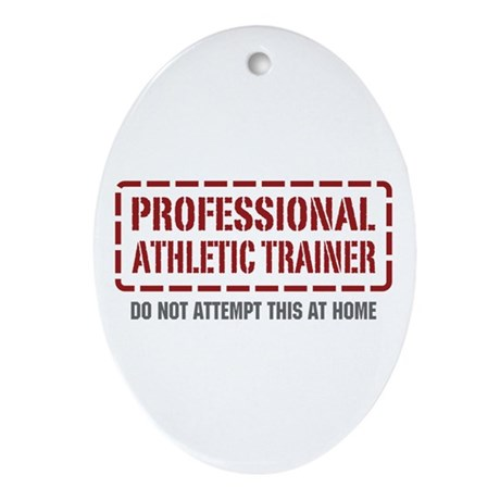Professional Athletic Trainer Oval Ornament