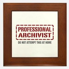 Professional Archivist Framed Tile