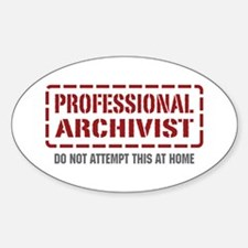Professional Archivist Oval Decal
