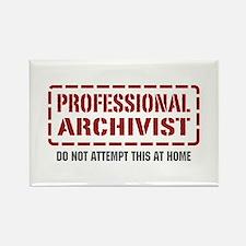 Professional Archivist Rectangle Magnet