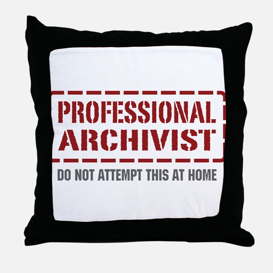 Professional Archivist Throw Pillow