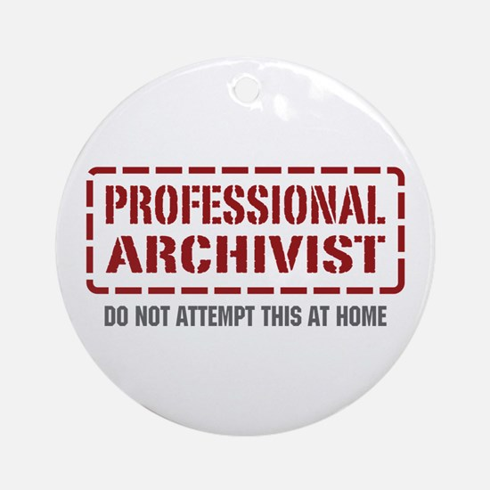 Professional Archivist Ornament (Round)