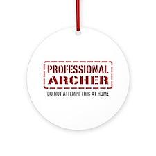 Professional Archer Ornament (Round)