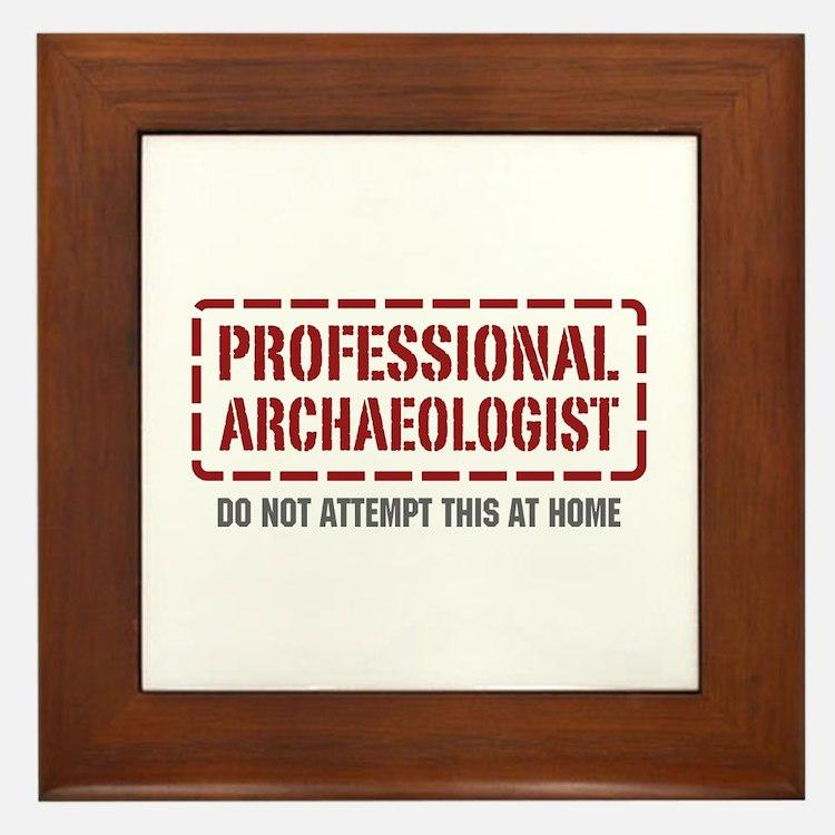 Professional Archaeologist Framed Tile