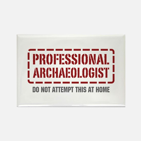 Professional Archaeologist Rectangle Magnet