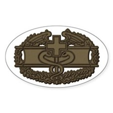 Combat Medic OD Oval Decal