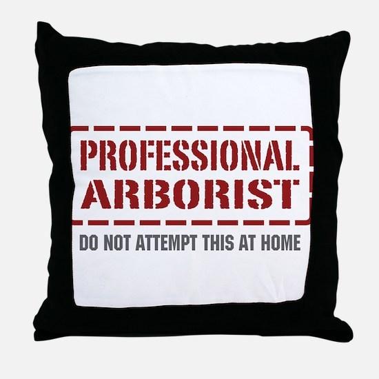 Professional Arborist Throw Pillow