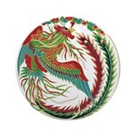 Chinese Rooster Ornament (Round)