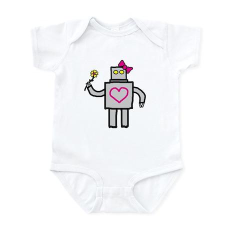 """""""Girly Robot"""" Infant Bodysuit"""