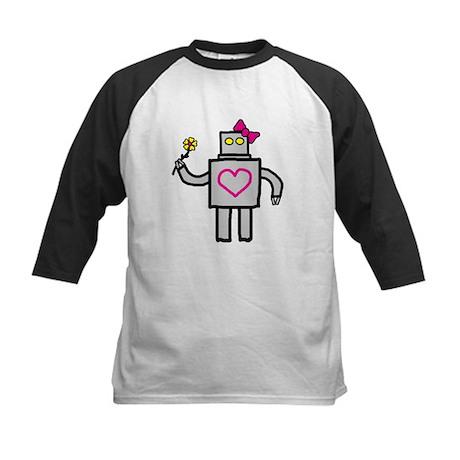 """""""Girly Robot"""" Kids Baseball Jersey"""