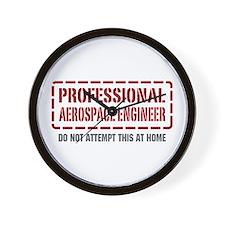Professional Aerospace Engineer Wall Clock