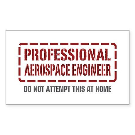 Professional Aerospace Engineer Sticker (Rectangle