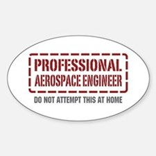 Professional Aerospace Engineer Oval Decal