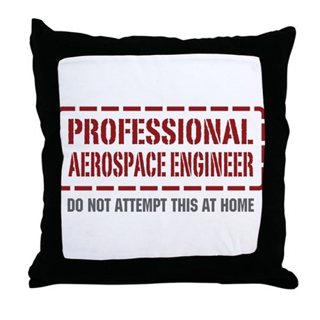 Professional Aerospace Engineer Throw Pillow