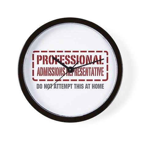 Professional Admissions Representative Wall Clock