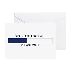 GRADUATE LOADING... Greeting Cards (Pk of 10)